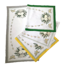"Polish Traditional Easter Lamb Small Table Runner 35""x 18"""