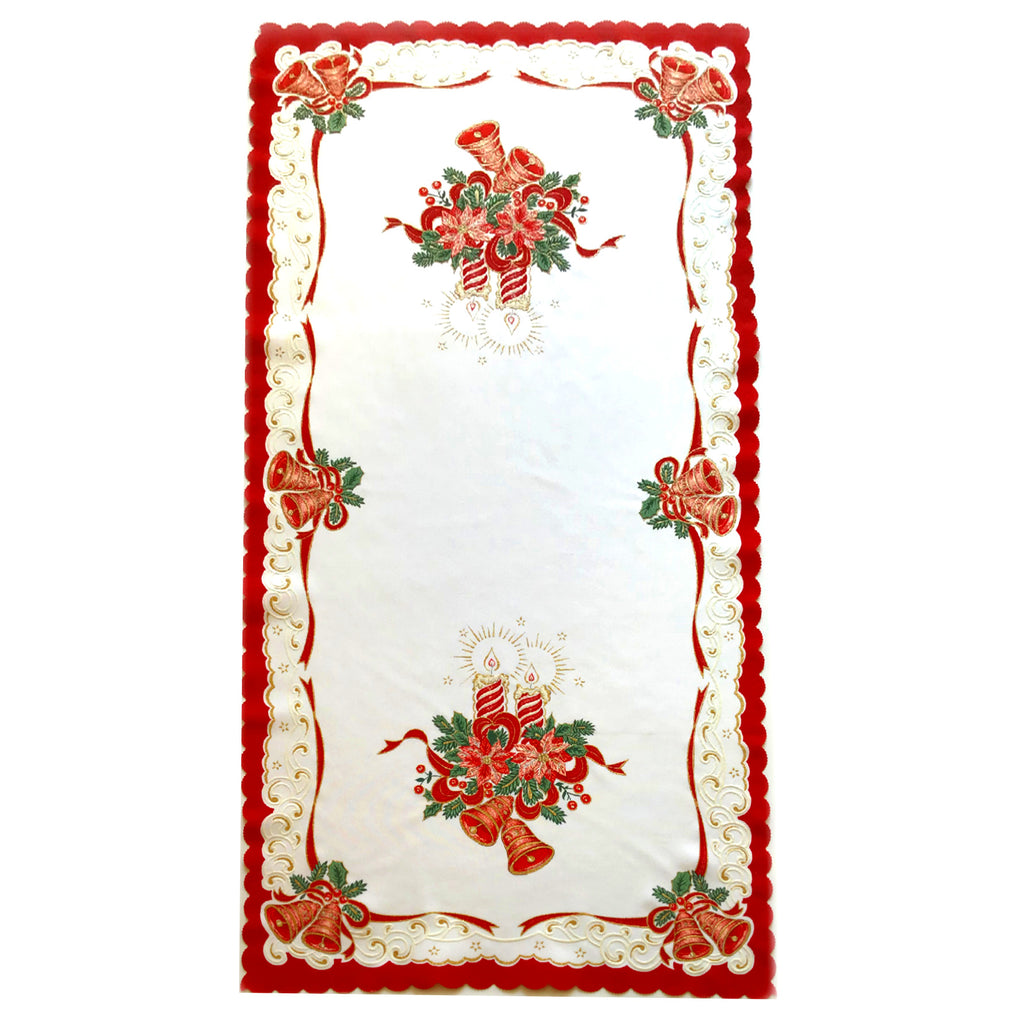 "Polish Two-Toned Christmas Table Runner 20""x 39"""