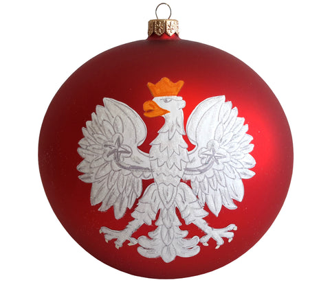 "6"" Polish Eagle Christmas Hand-Blown Ornament - Taste of Poland  - 1"