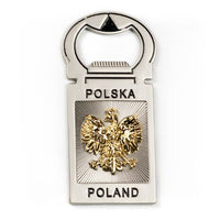 Poland Metal Beer Bottle Opener Magnet with Eagle - Taste of Poland