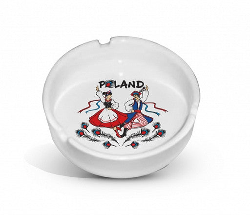 Polish Folk Dancers Krakowiaki Ceramic Ashtray - Taste of Poland
