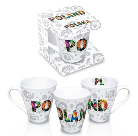 Polish Folk Art Ceramic Mug - POLAND - Taste of Poland