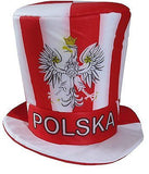 Poland Soccer Fan Accessory Set: Scarf, Hat, Trumpet, Mini Uniform & T-Shirt - Medium / Red - Taste of Poland  - 4