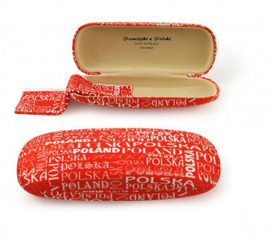 Polska Poland Red Hard Eyeglass Case - Taste of Poland  - 1