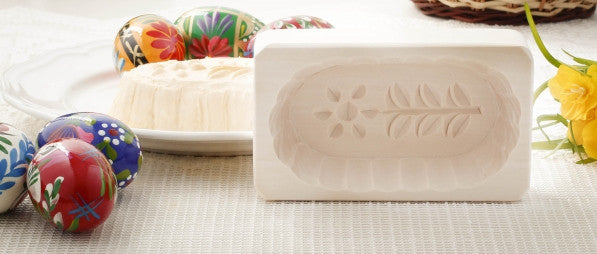 Traditional Polish Dainty Flower Wooden Butter Mold - Taste of Poland  - 1