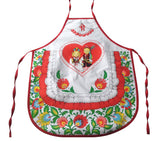 Polish Folk Art Lowicz Flowers Krakow Dancers Kids Kitchen Apron