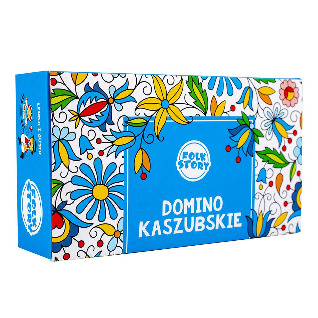 Polish Folk Art Kashubian Dominoes Game, for Families and Kids Ages 3+