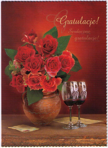 "Polish ""Congratulations"" Greeting Card (Gratulacje) - Taste of Poland  - 1"