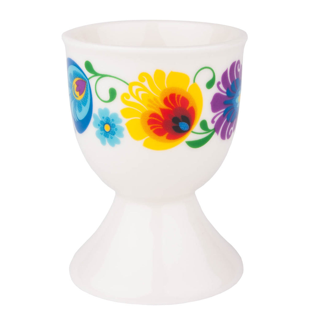 Polish Folk Art Porcelain Egg Cup