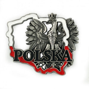 Poland's Contours & Eagle Metal Magnet - Taste of Poland