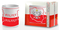 Polish Ceramic Eagle on Map of Poland Mug