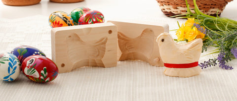 Traditional Wooden Chick Butter Mold