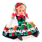 "Large Polish Folk Doll from Lowicz Region, Lowiczanka 16"" Tall"