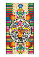 Polish Folk Art Hardcover Notebook, 3.5