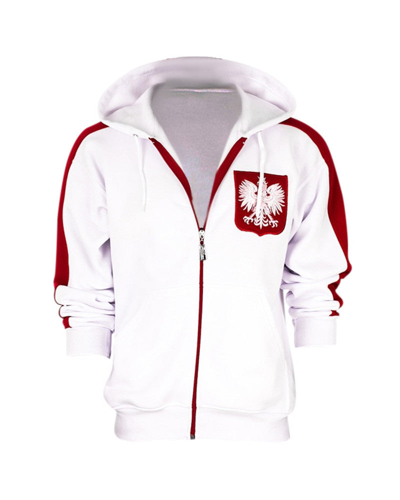 Polska Eagle Men's Zip-Up Hooded Sweatshirt