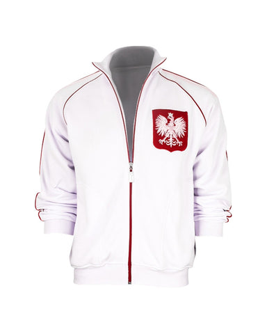 Polska Eagle Men's Zip-Up No Hood Sweatshirt