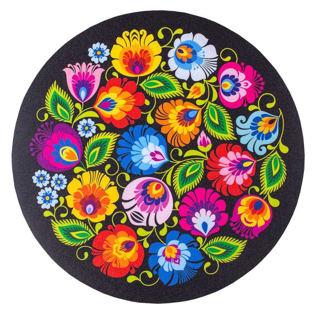 Polish Folk Art Round Mouse Pad