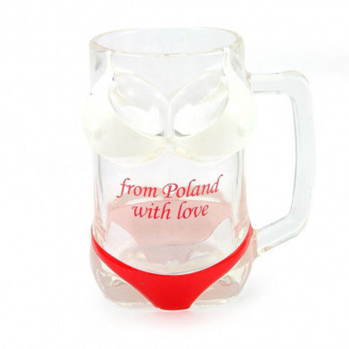 Poland White & Red Bikini Beer Mug - Taste of Poland  - 1
