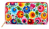 Women's Large Polish Folk Art Zip Around Wallet