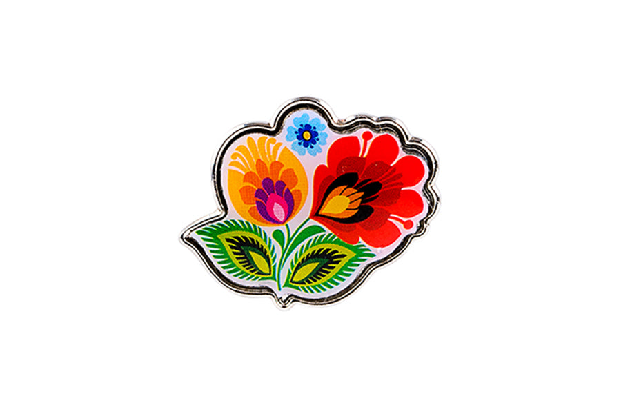 Polish Folk Art Lapel Pin (Flower)