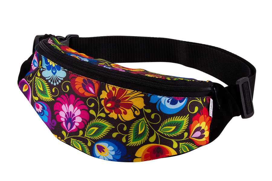 Polish Folk Art Travel Waist Hip Bag Pack with Adjustable Belt