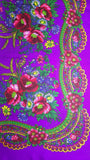 Traditional Polish Ukrainian Folk Cotton Head Scarf - Purple - Taste of Poland  - 2