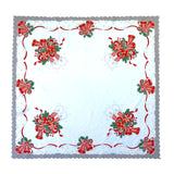"Polish Two-Toned Christmas Table Square Topper 33.5""x 33.5"""