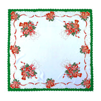 Polish Two-Toned Christmas Table Square Topper 33.5