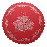 "Polish Christmas Round Table Doily 14""x 14"""