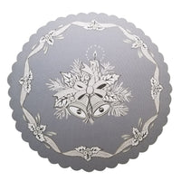 Polish Christmas Round Table Doily 14