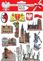 Gdansk City Stickers, Set of 13