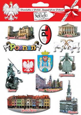 Poznan City Stickers, Set of 12