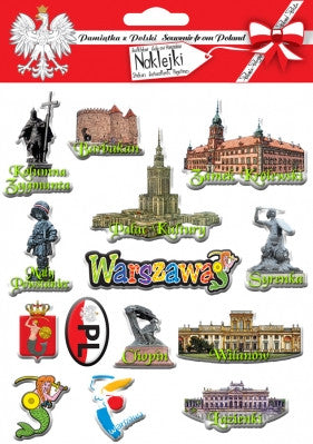 Warszawa / Warsaw City Stickers, Set of 14