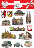 Wroclaw City Stickers, Set of 13
