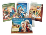 Set of 4 Traditional Polish Religious Christmas Cards with Wafers (Oplatki) (A)