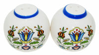 Polish Kashubian Folk Art Salt & Pepper Shaker Set