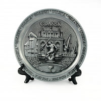 Poland City Metal Decorative Plate - Gdansk
