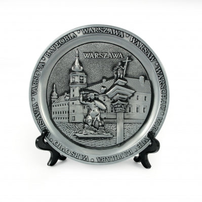 Poland City Metal Decorative Plate - Warsaw