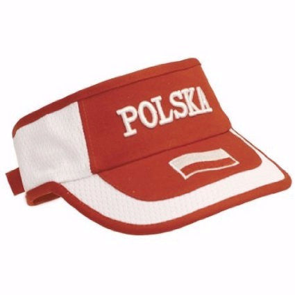 Polish Apparel Red & White Visor - Polska - Taste of Poland  - 1