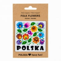 Polish Floral Folk Art Magnet - Taste of Poland  - 1