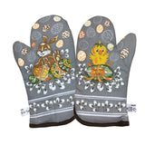 Polish Easter Chick & Bunny Kitchen 2 Oven Mitts