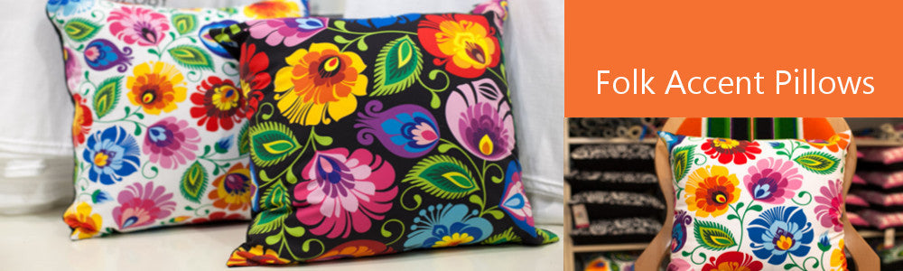 Polish Folk Art Accent Pillows