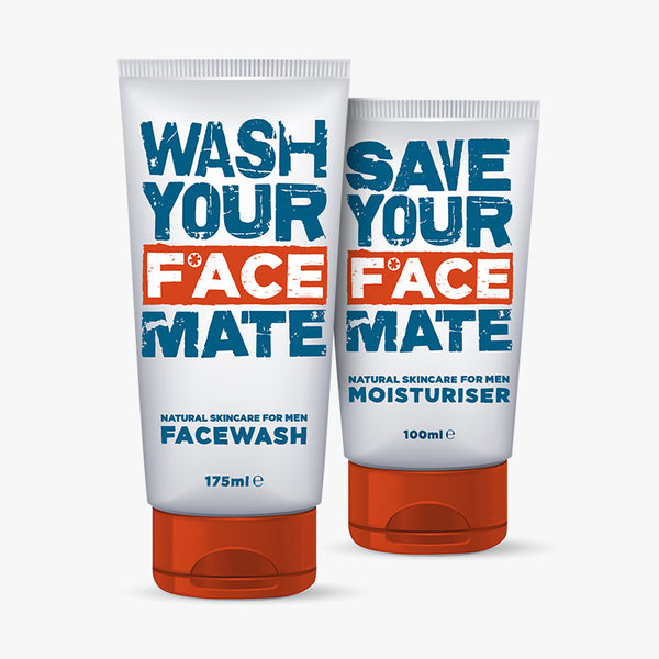 Mens face wash and moisturiser by F*ACE Skin Care for Men