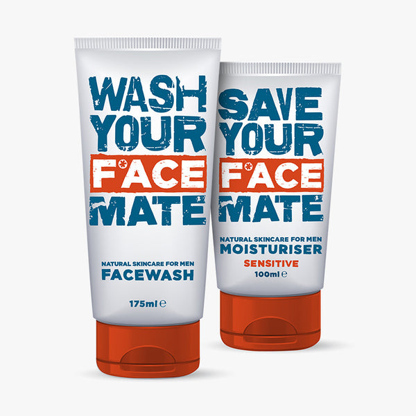 Sensitive moisturiser for men and face wash for men by F*ACE