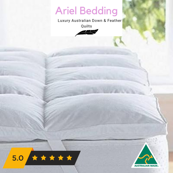 Ariel Bedding Plush Mattress Topper - Goose