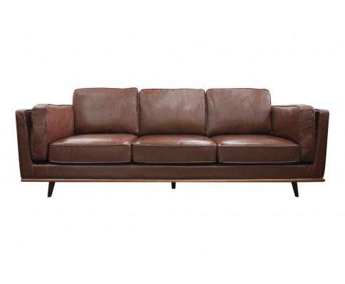 Melbournians Furniture Stylish Leatherette Brown York Sofa  3 Seater