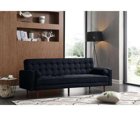 Melbournians Furniture Sofa Marcella Black Standard Fabric