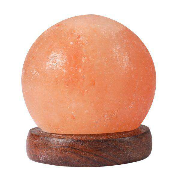 HIMALAYAN SALT LAMP GLOBE USB NATURAL CRYSTAL ROCK CORD NIGHT LIGHT LAMPS GLOBES
