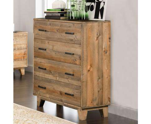 Melbournians Furniture Woodstyle 4 Drawer Tallboy