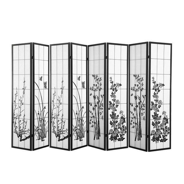 8 Panel Room Divider Privacy Screen Wood Timber Bed Wider Foldable Stand